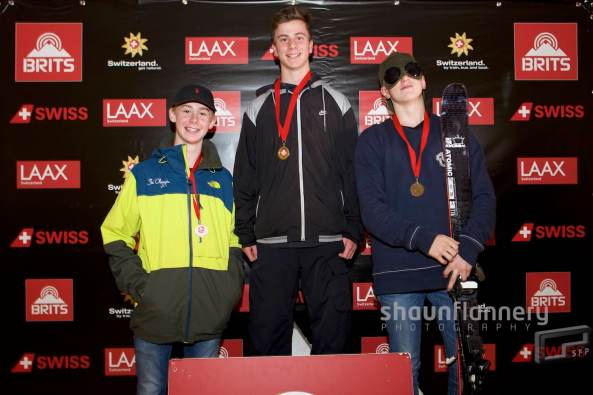 Pix: Shaun Flannery/shaunflanneryphotography.com COPYRIGHT PICTURE>>SHAUN FLANNERY>01302-570814>>07778315553>> 15th October 2016 British Indoor Slopestyle Championships 2016 Chill Factore, Manchester Under 16's men podium Mason Flannery (3rd), Jasper Klein (1st) Tom Greenway (2nd)
